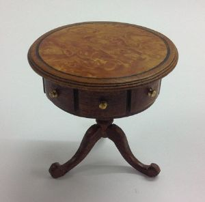 310. Drum Table, Veneered